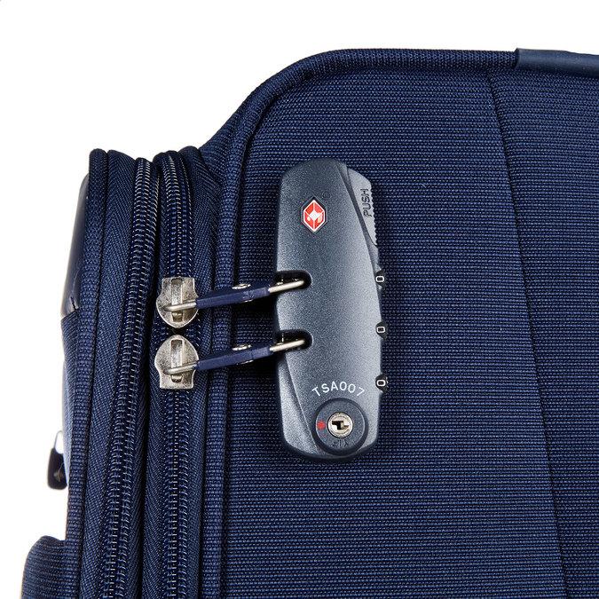 Textilní cestovní kufr na kolečkách samsonite, modrá, 969-9342 - 17
