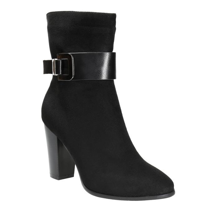 Dámská kotníčková obuv s přezkou bata, černá, 699-6630 - 13