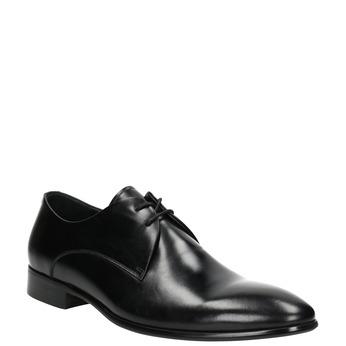 Kožené černé polobotky bata, černá, 826-6648 - 13