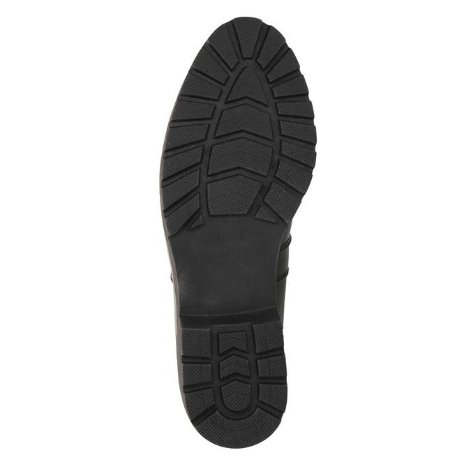 Lakované Chelsea Boots na výrazné podešvi bata, černá, 591-6603 - 19