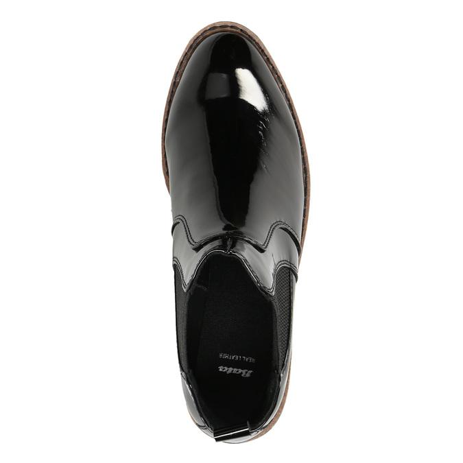 Lakované Chelsea Boots na výrazné podešvi bata, černá, 591-6603 - 26