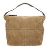Kožená kabelka s prošitím bata, hnědá, 963-3130 - 26