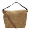 Kožená kabelka s prošitím bata, hnědá, 963-3130 - 19