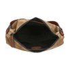 Kožená kabelka s prošitím bata, hnědá, 963-3130 - 15