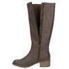 Dámské kozačky na nízkém podpatku bata, hnědá, 691-4600 - 26