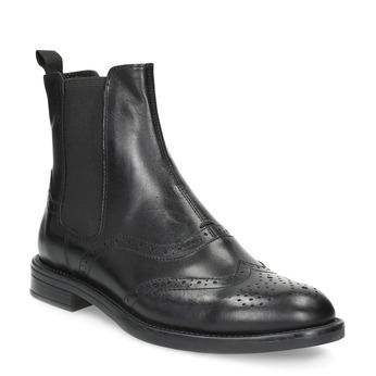 Kožené Chelsea Boots se zdobením vagabond, černá, 514-6002 - 13