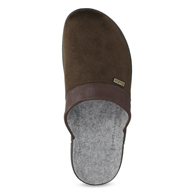 Pánská domácí obuv bata, hnědá, 879-4600 - 17
