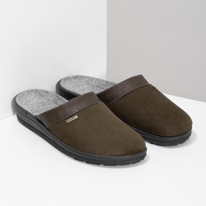 Pánská domácí obuv bata, hnědá, 879-4600 - 26