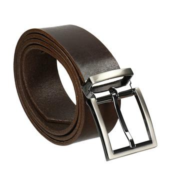 Hnědý kožený opasek bata, hnědá, 954-4129 - 13