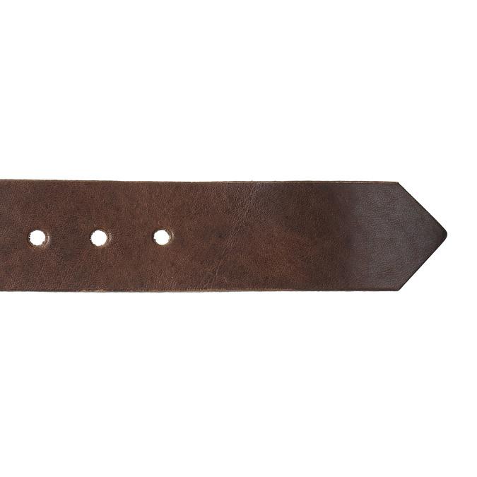 Hnědý kožený opasek bata, hnědá, 954-4129 - 16