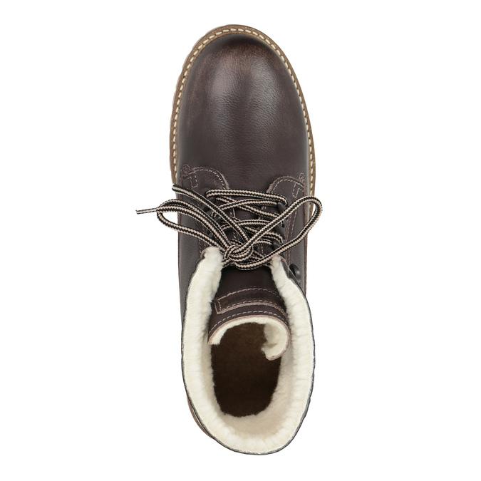 Dámská kožená zimní obuv weinbrenner, hnědá, 594-4491 - 19