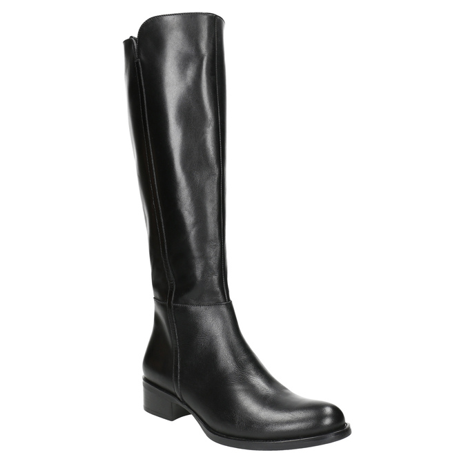 Dámské kožené kozačky bata, černá, 594-6586 - 13
