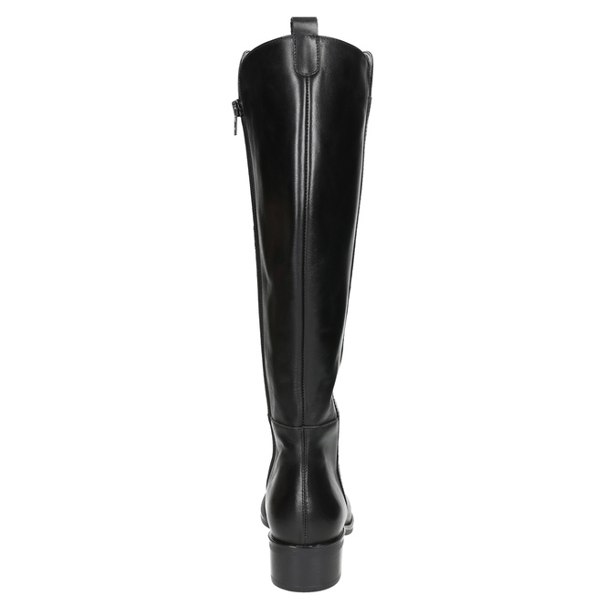 Dámské kožené kozačky bata, černá, 594-6586 - 17