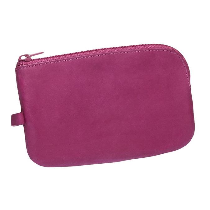 Kožená peněženka bata, růžová, 944-5161 - 13