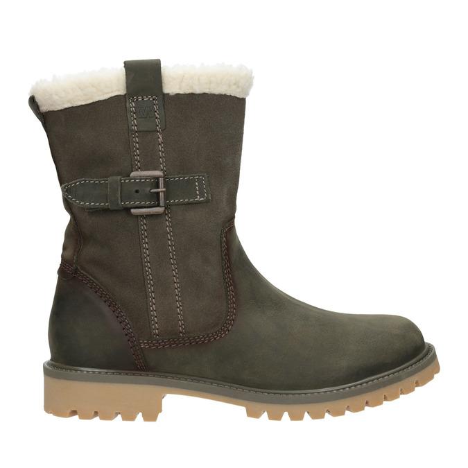 Dámská zimní obuv s kožíškem weinbrenner, khaki, 594-2455 - 26