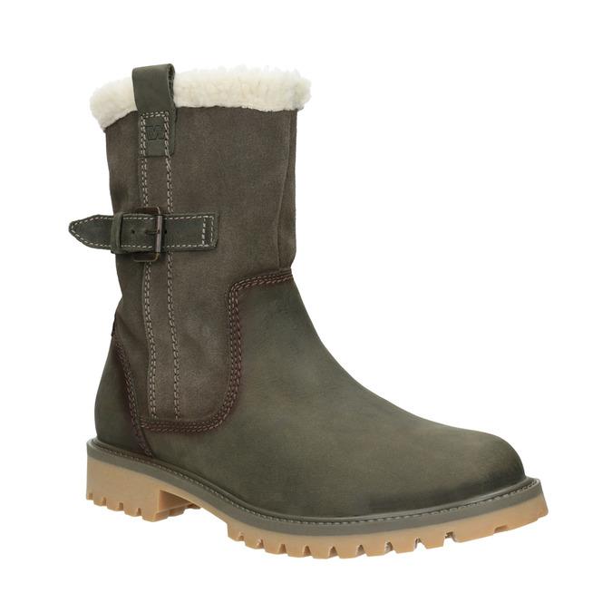 Dámská zimní obuv s kožíškem weinbrenner, khaki, 594-2455 - 13