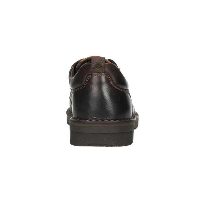 Ležérní kožené polobotky na výrazné podešvi bata, hnědá, 824-4698 - 17