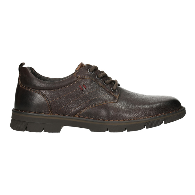 Ležérní kožené polobotky na výrazné podešvi bata, hnědá, 824-4698 - 15