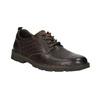 Ležérní kožené polobotky na výrazné podešvi bata, hnědá, 824-4698 - 13