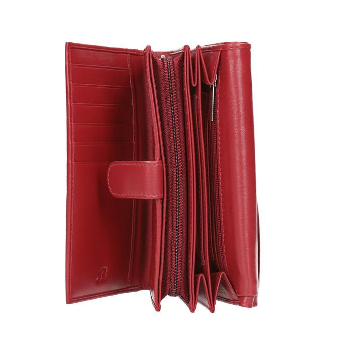 Kožená dámská peněženka bata, červená, 944-5168 - 15