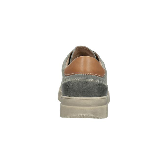 Pánské kožené tenisky weinbrenner, šedá, 843-2620 - 17