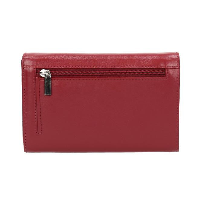 Kožená dámská peněženka bata, červená, 944-5168 - 19