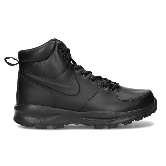Kožená pánská kotníčková obuv nike, černá, 806-6435 - 19