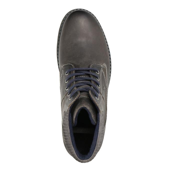 Kožená obuv ke kotníkům bata, šedá, 894-2643 - 26