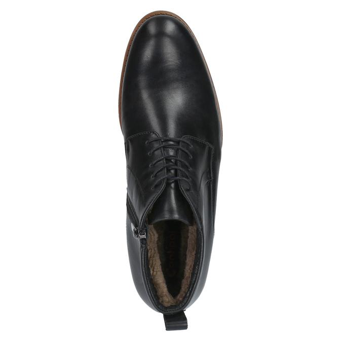 Kožená kotníčková obuv se zateplením conhpol, černá, 894-6679 - 19