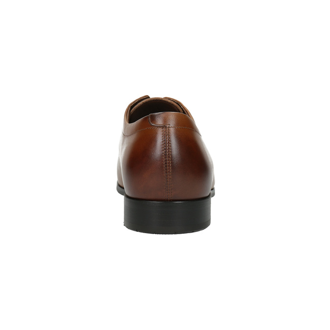 Pánské kožené polobotky v Derby stylu bata, hnědá, 826-4736 - 17