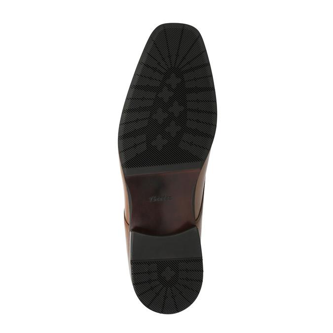 Pánské kožené polobotky v Derby stylu bata, hnědá, 826-4736 - 26