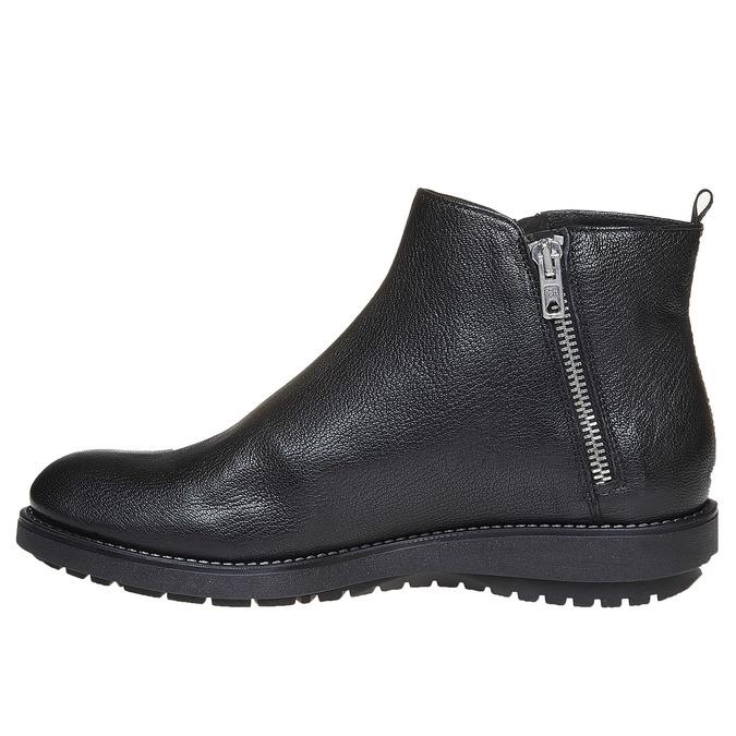 Kožená kotníčková obuv flexible, černá, 594-6227 - 19
