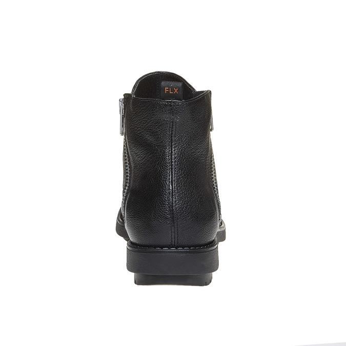 Kožená kotníčková obuv flexible, černá, 594-6227 - 17