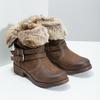 Dámská kotníčková obuv s kožíškem bata, hnědá, 591-4601 - 26