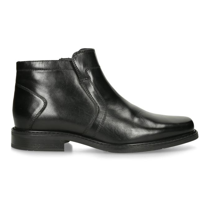 Kožená kotníčková obuv se zateplením bata, černá, 894-6641 - 19