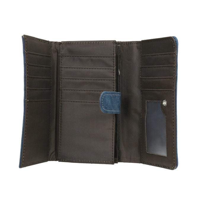 Dámská modrá peněženka bata, modrá, 941-9153 - 15