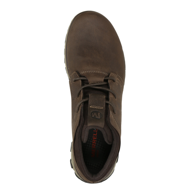 Pánská kožená kotníčková obuv merrell, hnědá, 806-4842 - 19