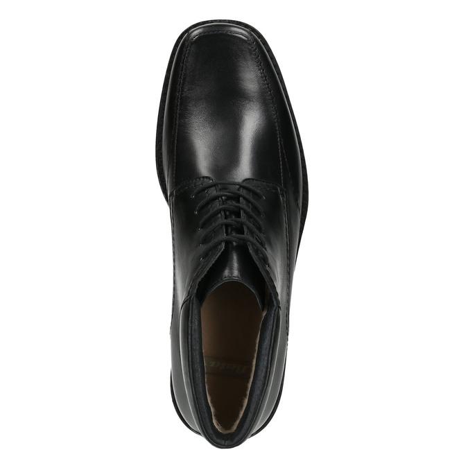 Kožená kotníčková obuv se zateplením bata, černá, 894-6640 - 26