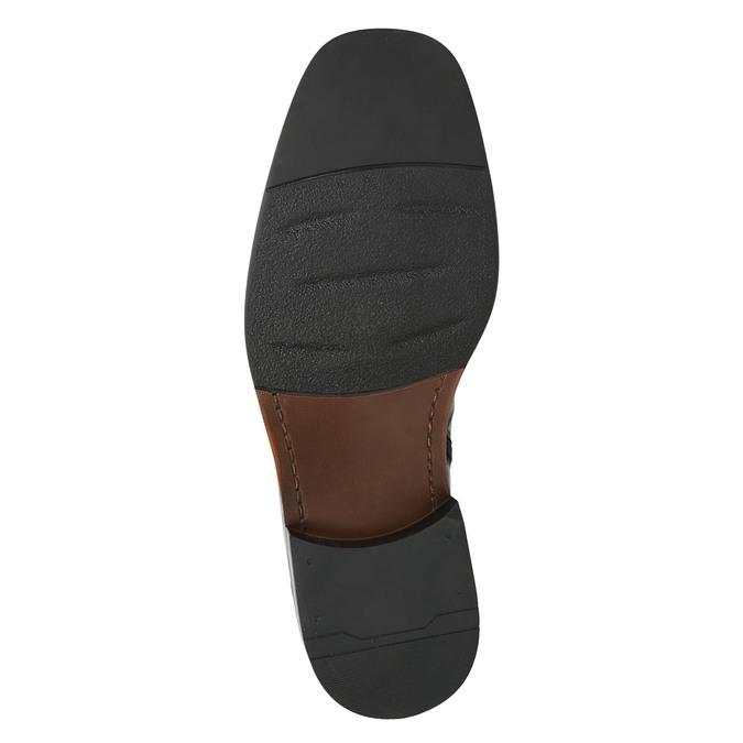 Kožená kotníčková obuv se zateplením bata, černá, 894-6640 - 19