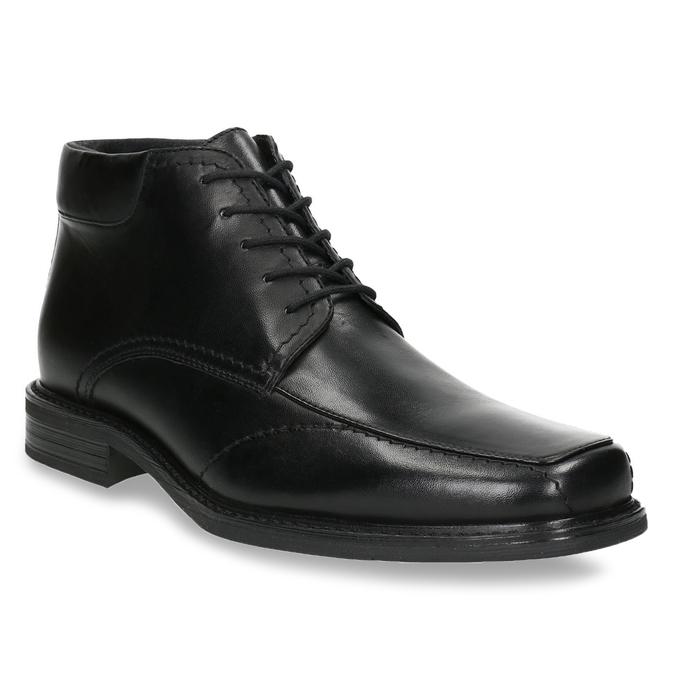 Kožená kotníčková obuv se zateplením bata, černá, 894-6640 - 13