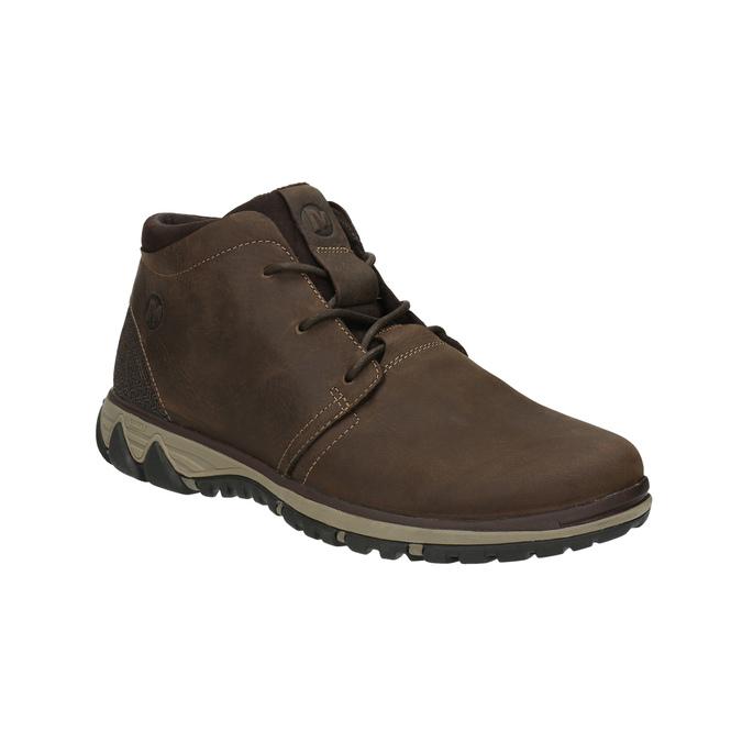 Pánská kožená kotníčková obuv merrell, hnědá, 806-4842 - 13