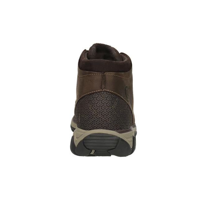 Pánská kožená kotníčková obuv merrell, hnědá, 806-4842 - 17