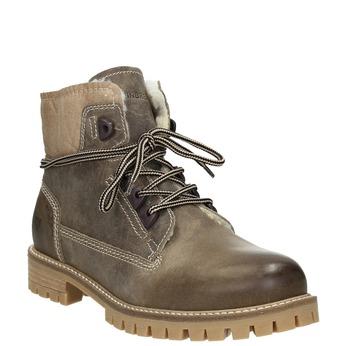 Kožená zimní obuv s kožíškem weinbrenner, hnědá, 594-2491 - 13