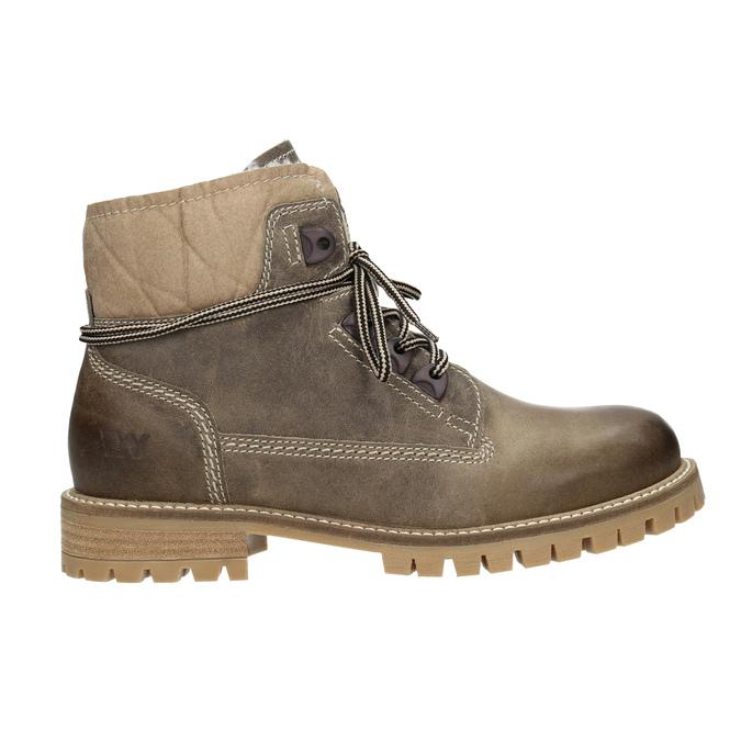 Kožená zimní obuv s kožíškem weinbrenner, hnědá, 594-2491 - 26