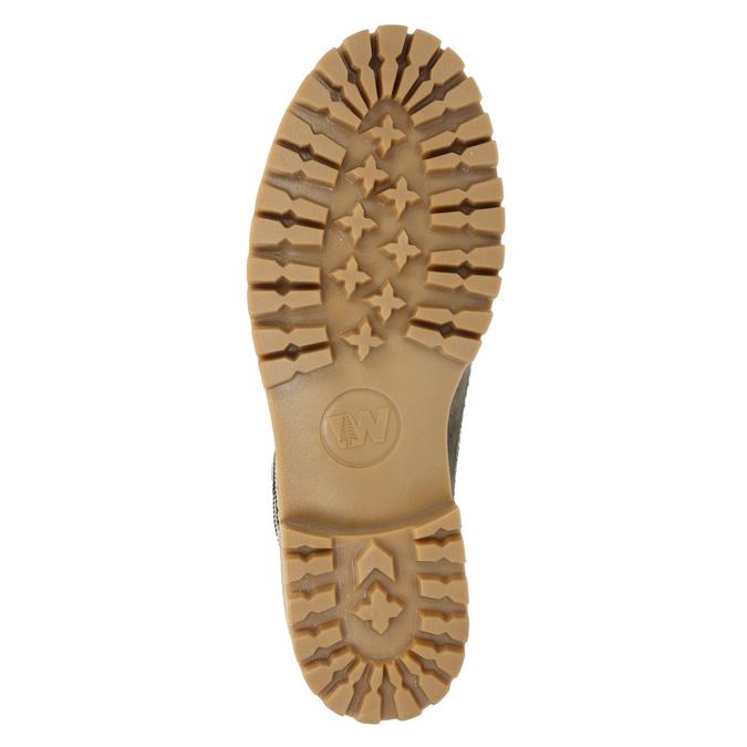 Kožená zimní obuv s kožíškem weinbrenner, hnědá, 594-2491 - 17