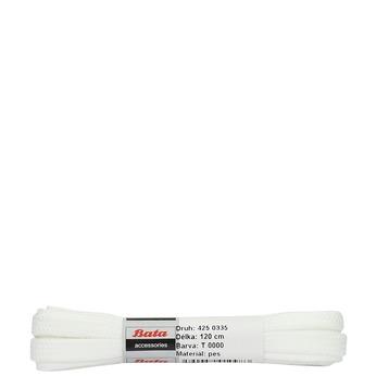 Bílé tkaničky bata, bílá, 901-1120 - 13