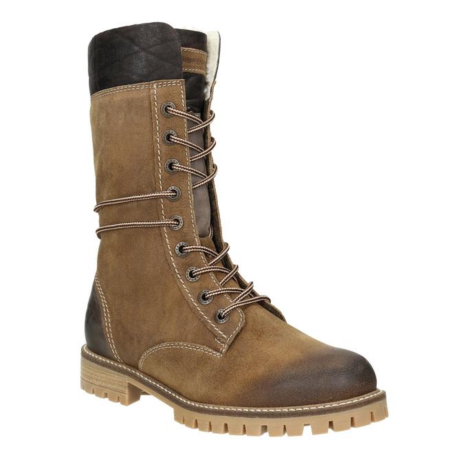 Dámská zimní obuv s kožíškem weinbrenner, hnědá, 593-8476 - 13