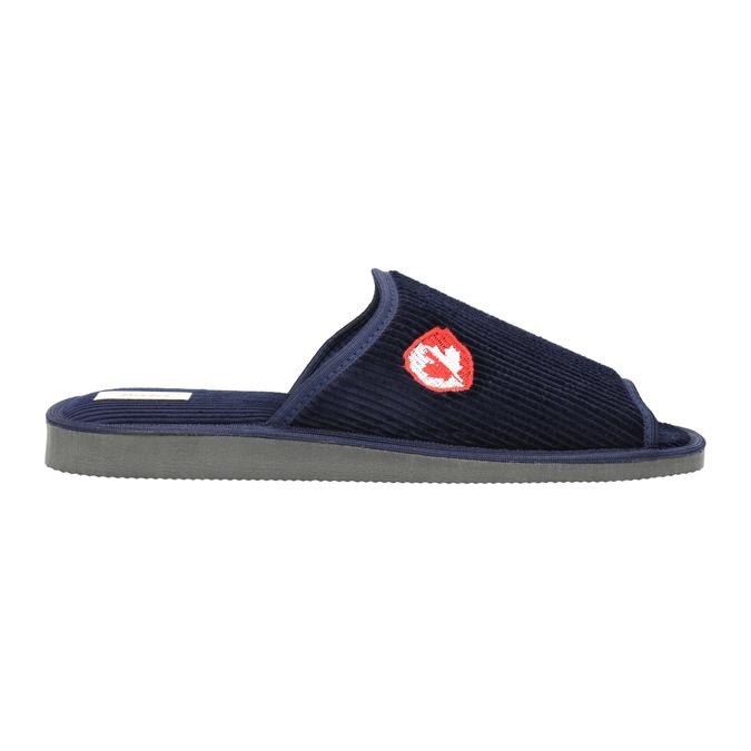 Pánská domácí obuv bata, modrá, 879-9608 - 15