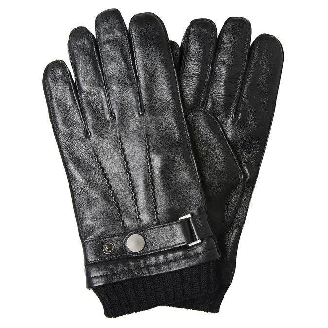 Pánské kožené rukavice bata, černá, 904-6127 - 13