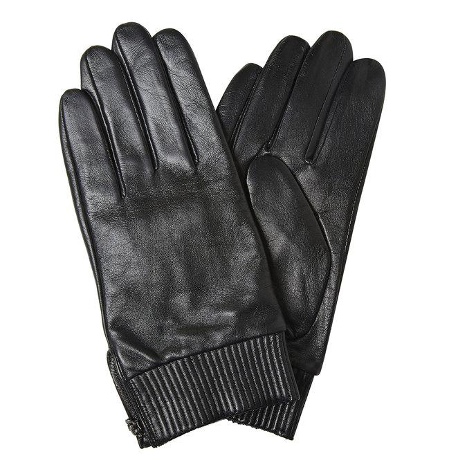 Kožené pánské rukavice bata, černá, 904-6128 - 13